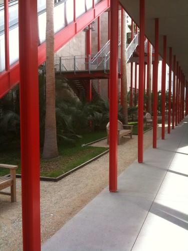 A LACMA walkway