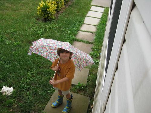 singing in the (non existent) rain