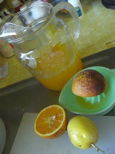 homemade lilikoi-orange juice