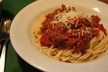 Delicious, meaty spaghetti
