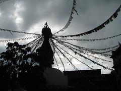 Una pagoda sagrada repleta de plegarias
