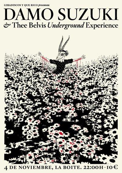 DAMO SUZUKI & THEE BELVIS UNDERGROUND EXPERIENCE Martes 4 de Noviembre @ La Boite, Madrid 22.00 | 10 euros