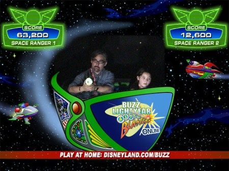 Playing Buzz Lightyear with my son