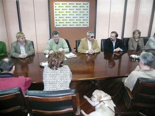 Reunión de candidatos de CHA con el Consejo Territorial de la ONCE