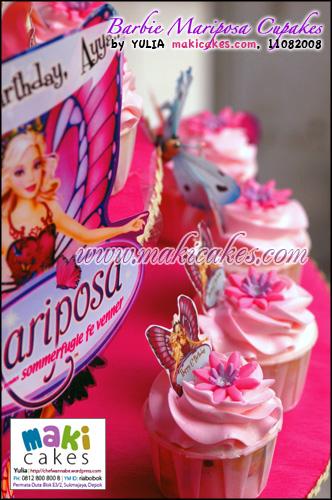 Barbie Mariposa Cupcakes - Maki Cakes