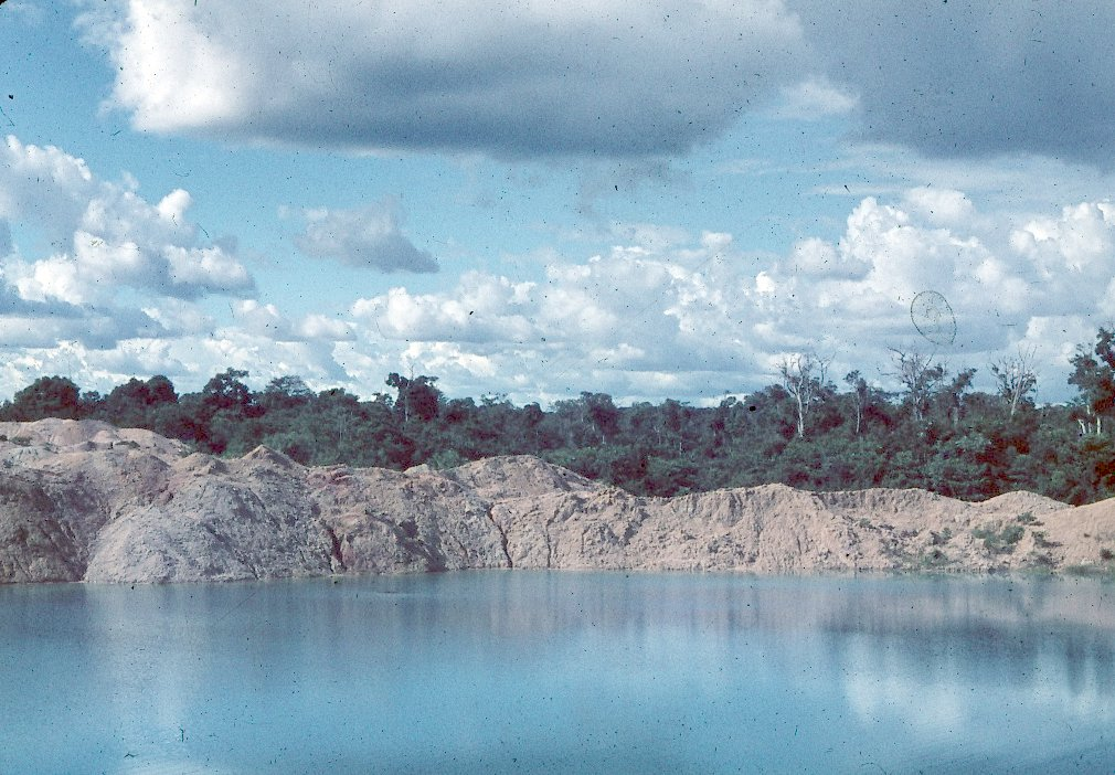 Lake created by Bauxite Mine, MacKenzie, British Guiana