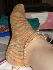Roras Plain Vanilla Toe-up Socks