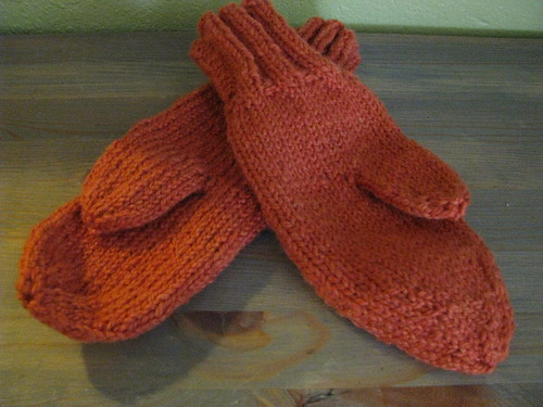 Mittens for Mama - handspun & plant-dyed