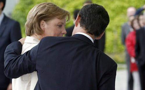 Angela Merkel and Nicholas Sarkozy