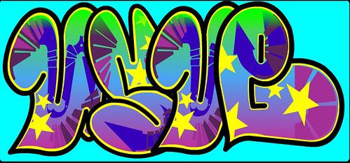 Mi nombre escrito con Graffiti Creator
