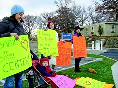 Picketing to save the North Shore Birth Center