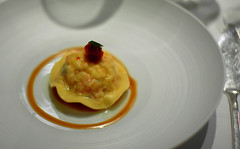 Ravioli of Lobster, Langoustine and Salmon