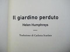Helen Humphreys, Il giardino perduto, Playground 2009, frontespizio (part.) 1