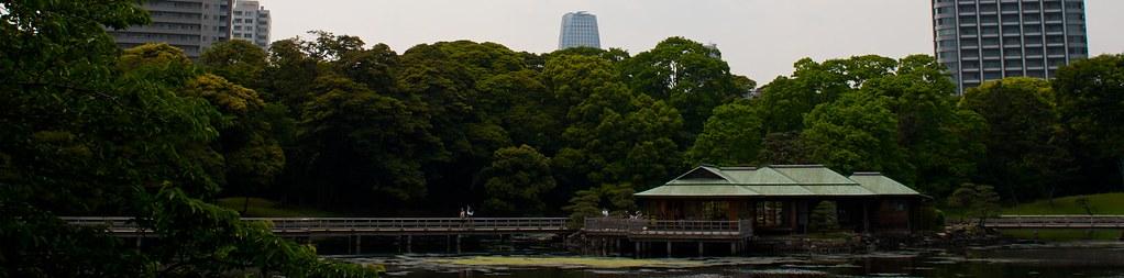 Casa del té en Hama Rikyu