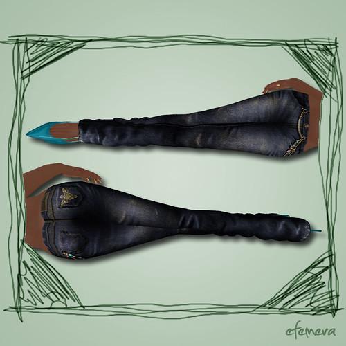 Zaara Jeans Indigo Closeup