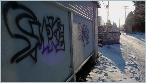 Alley in Spenard neighborhood, Anchorage.