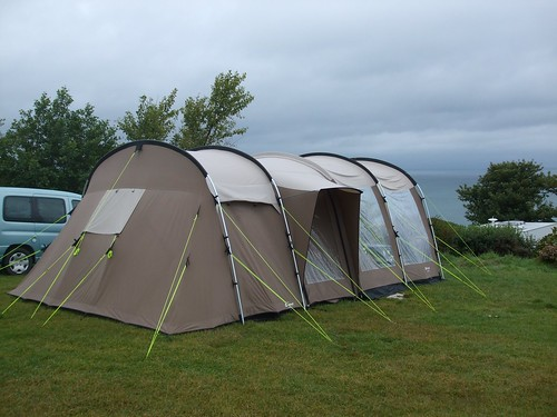 Our tent with its sea view