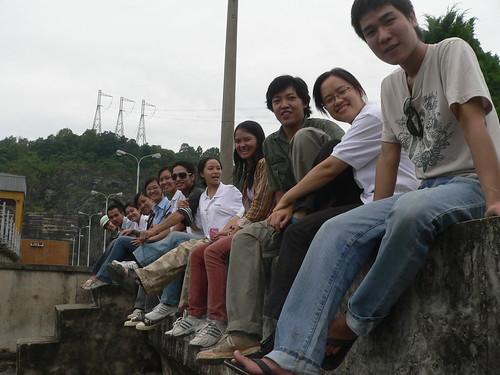Trên đập Thủy điện Hòa Bình