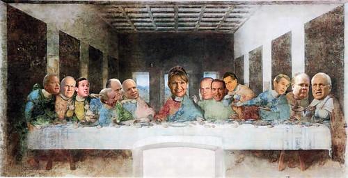 Top republicans at Leonardo Da Vincis Last Supper