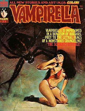 La Vampi siempre tiene a un bicho intentándo agarrarla por detrás, ... qué casualidad!