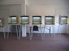 Six voting machines for this election!