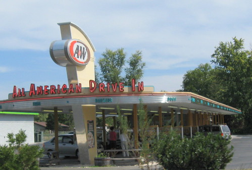 Modern version of an A&W Root Beer stand.