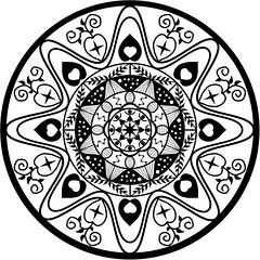 mandala 3 vector Drawn - RuthArt