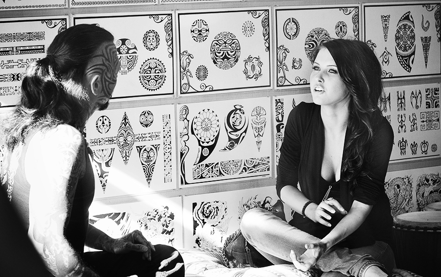 Audrina Patridge @ Black Wave Tattoo