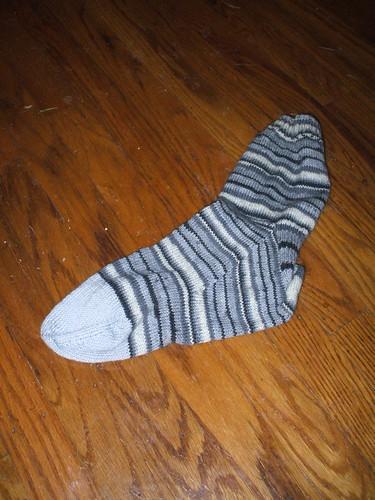Dad's Sock--oops, gray