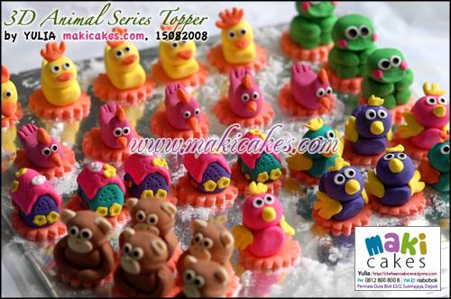 3D Animal Series Topper - Maki Cakes