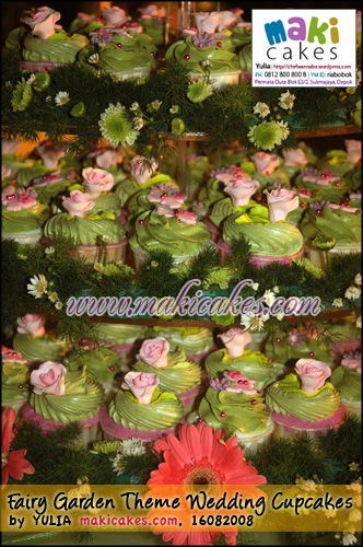 Fairy Garden Theme Wedding Cupcakes_- Maki Cakes
