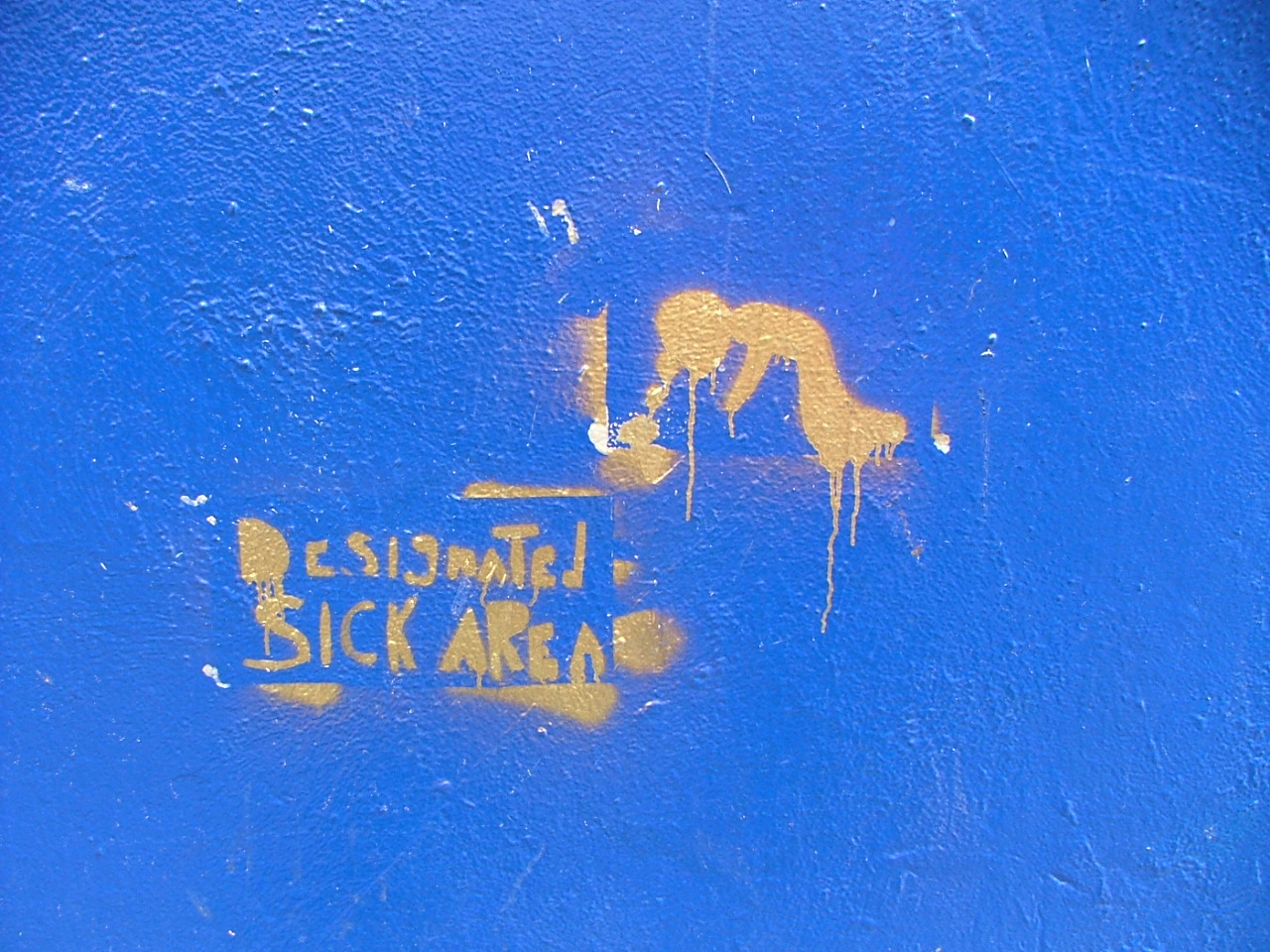 Designated Sick Area - Outside one of Dublins dodgiest nightclubs (Club M)!