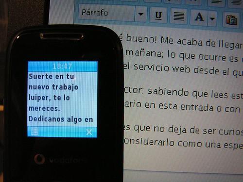 Felicitación por SMS (¡gracias!)