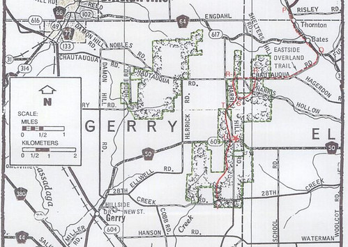 Southern most portion of the Eastside Overland Trail Map