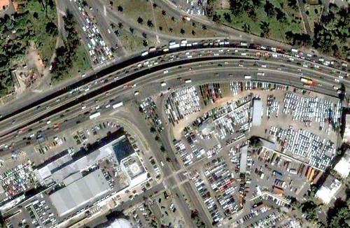 Vista aérea de la Lincoln con JFK, gracias a Google Earth