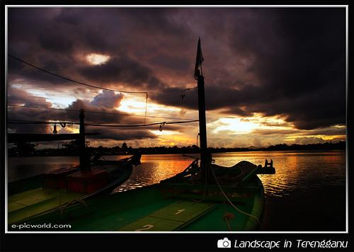 Sunset at kampung Pulau Ketam, Duyong wallpaper