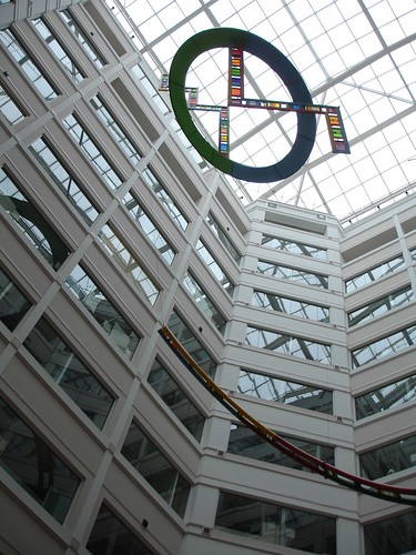 Art in the atrium of the NSF building in Arlington.