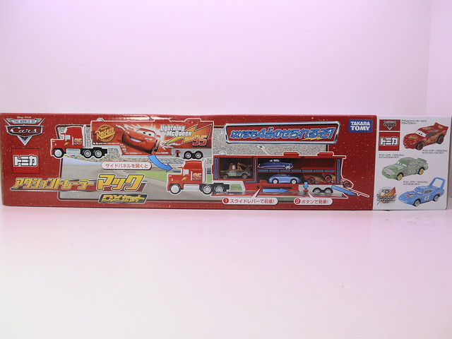 tomica disney cars mack,king,chick hicks,tongue mcqueen combo (2)