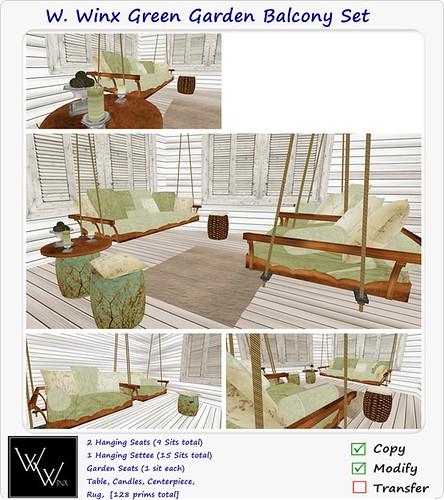 W. Winx-Green Garden Balcony Set