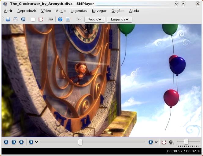 SmPlayer rodando no Mandriva 2009