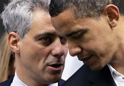 In this June 6, 2008, file photo President Barack Obama huddles with White House Chief of Staff Rahm Emanuel. (AP Photo/Charles Rex Arbogast, File)