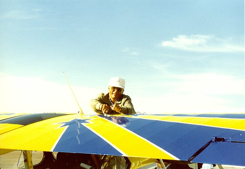 Ted fueling the Super Decathlon