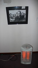 The Sopranos watch over the heater