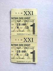 Tiket: The Dark Knight
