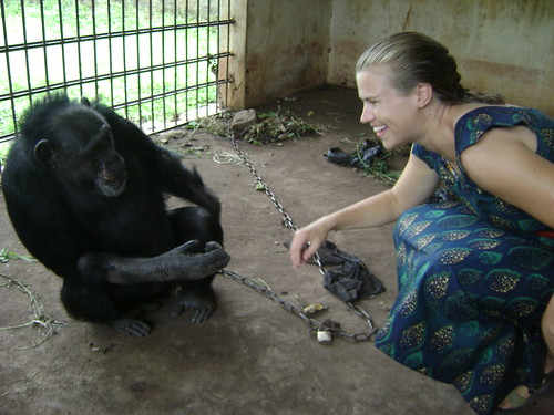 Lexi with chimp