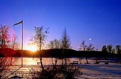 Solnedgång i Själevad