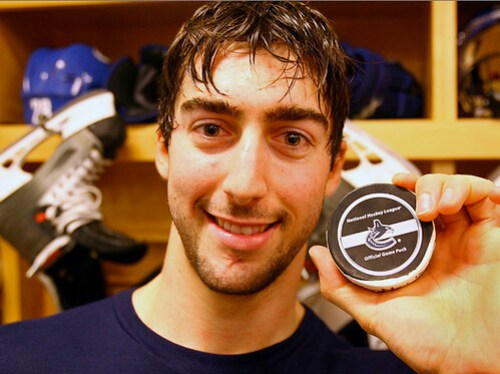 Luc Bourdon and his first NHL goal