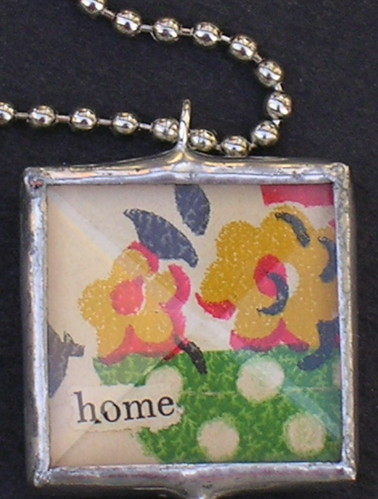 side 2 of the map charm - made with a 1 bevel glass