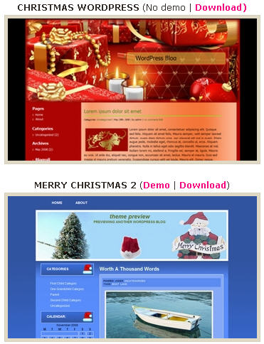 wordpress_blogger_christmas_themes