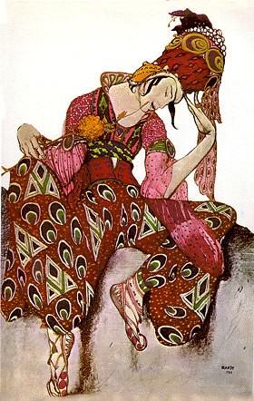 La Péri, costume d'Iskander (Vaslav Nijinski) - 1911